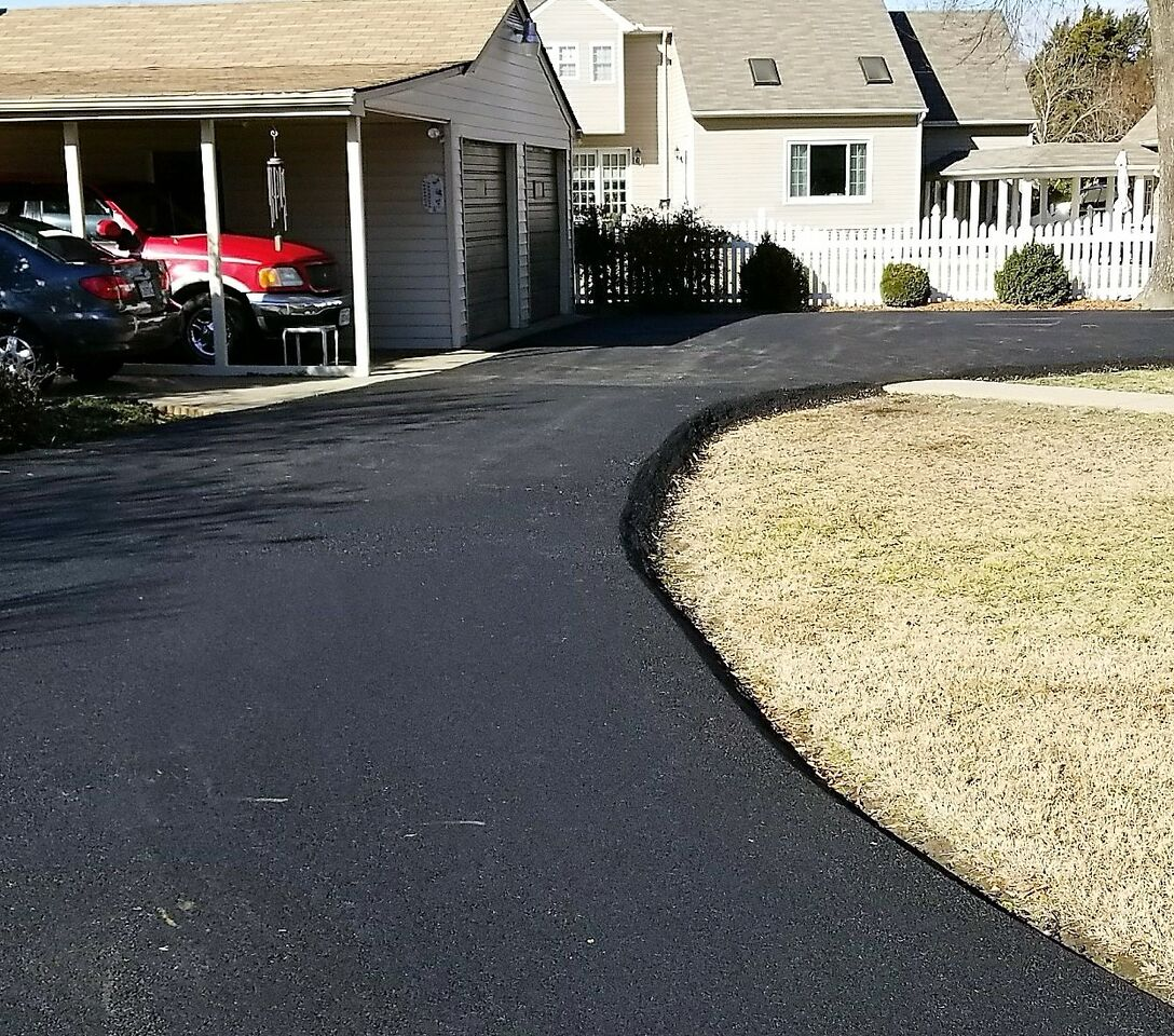 Curved Driveway NC Paving Pros Fayetteville, NC