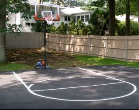 Backyard Basketball Court NC Paving Pros Fayetteville, NC
