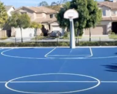HOA Community Basketball Court NC Paving Pros Fayetteville, NC